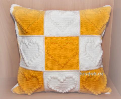 Декоративная подушка крючком, мастер - класс!
