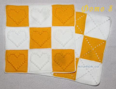 Декоративная подушка. Работа Роксаны вязание и схемы вязания
