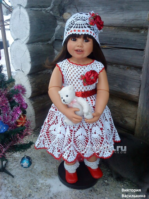 Детские платья крючком. Работы Виктории вязание и схемы вязания