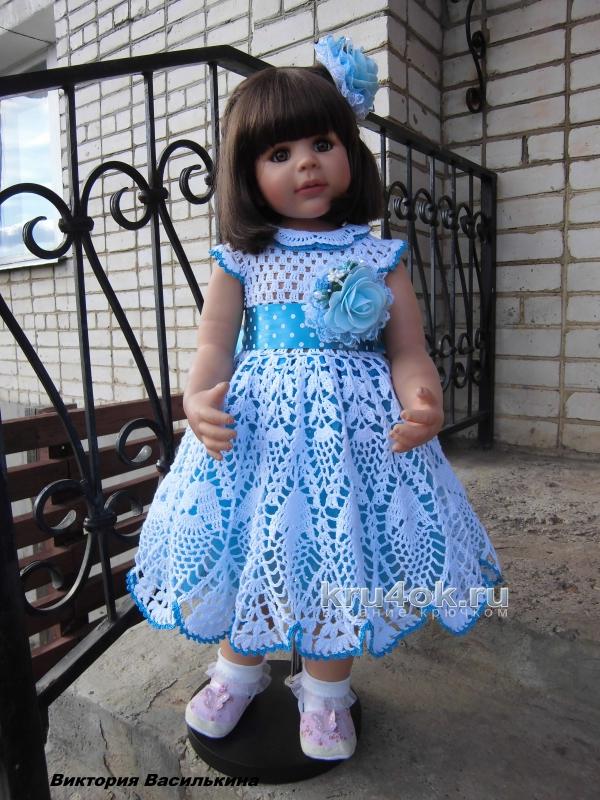 детские платья крючком работы виктории