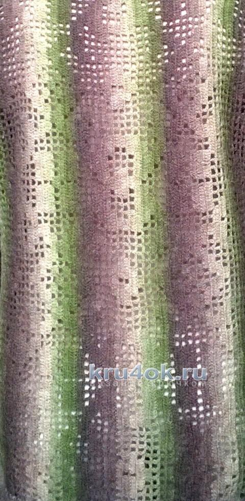 Кардиган в филейной технике. Работа Елены вязание и схемы вязания