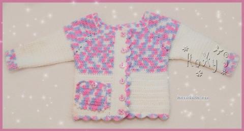 Кофточка для девочки крючком. Работа Роксаны вязание и схемы вязания
