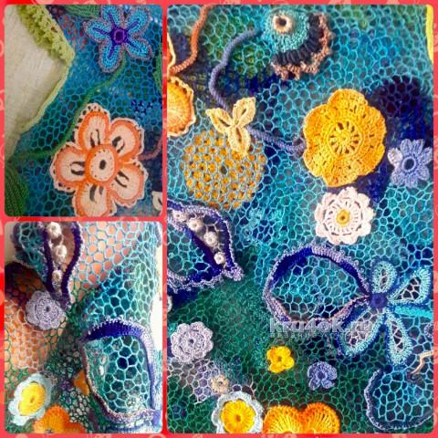 Платье-туника на девочку. Работа Оксаны вязание и схемы вязания