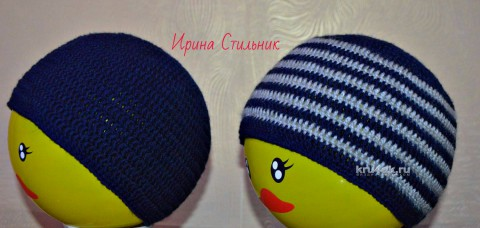 Шапочка для мальчика. Работа Ирины Стильник вязание и схемы вязания