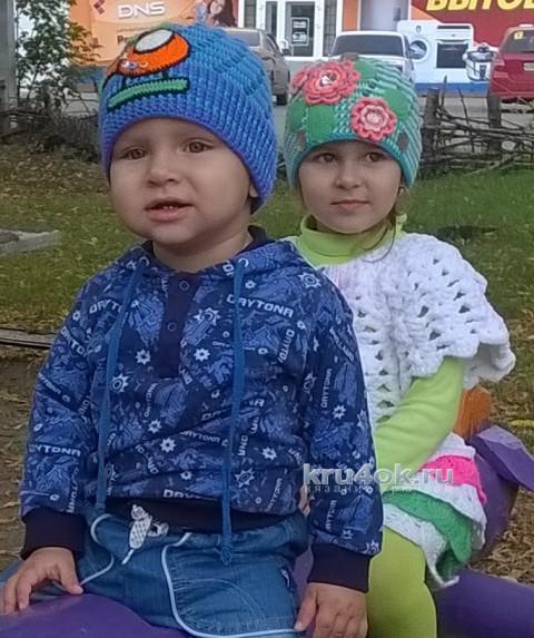 Шапочки для детей. Работы Галины Лукериной вязание и схемы вязания