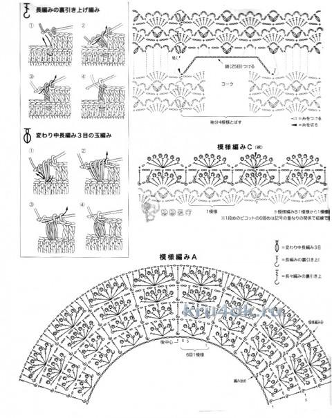Свитер спицами. Работа Ольги Арикайнен вязание и схемы вязания