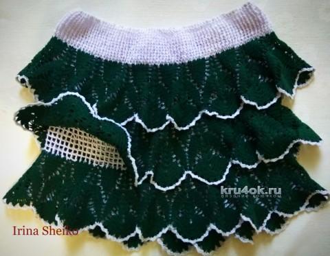 Топ и юбка для девочки. Работы Ирины вязание и схемы вязания