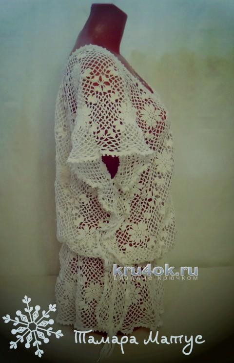 Туника Оазис. Работа Тамары Матус вязание и схемы вязания