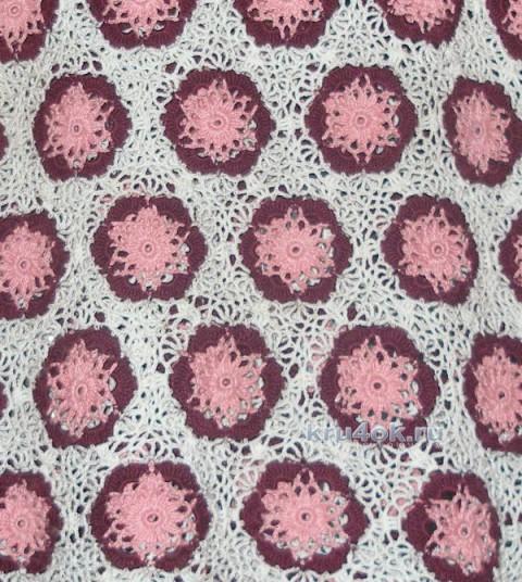 Вязаная крючком кофточка. Работа Елены вязание и схемы вязания