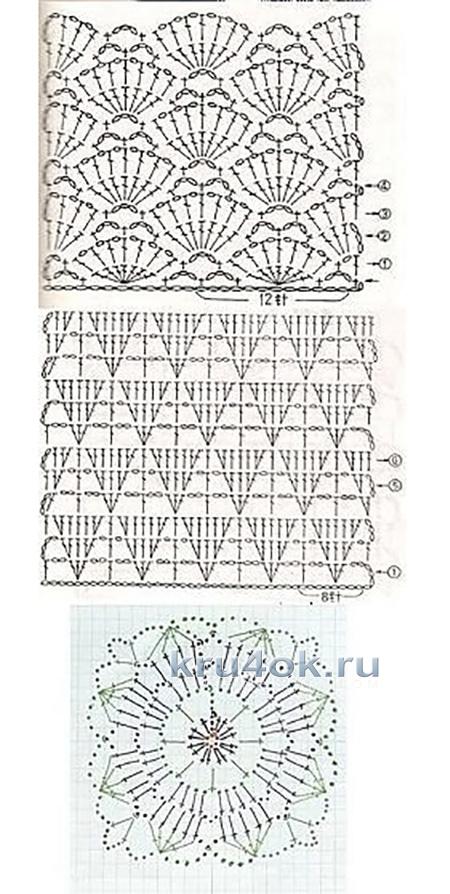 Вязаная туника. Работа Оксаны вязание и схемы вязания