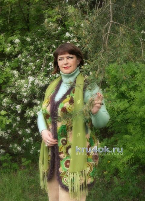 Жилет Берендеев лес. Работа Светланы Шевченко вязание и схемы вязания