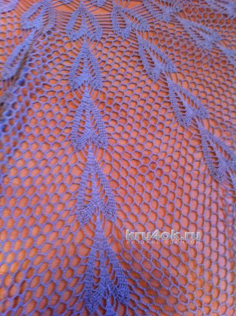 Ажурная скатерть. Работа Татианы вязание и схемы вязания