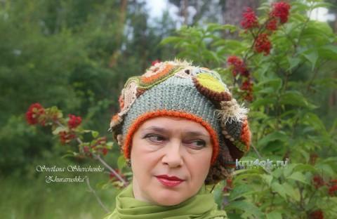 Берет Журавушка. Работа Светланы Шевченко вязание и схемы вязания