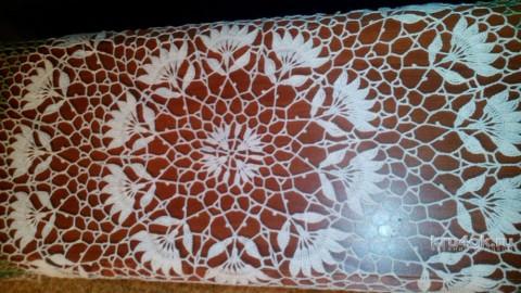 Цветочная скатерть. Работа Екатерины Козловой - Хомовой вязание и схемы вязания