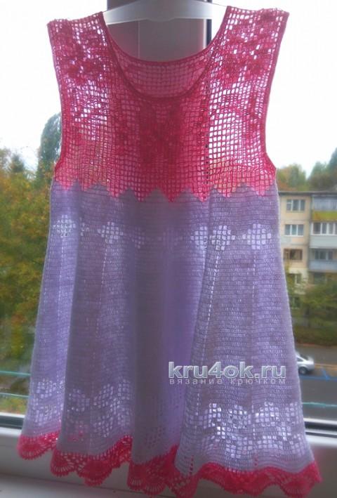 Платье для девочки крючком. Работа Ирины вязание и схемы вязания