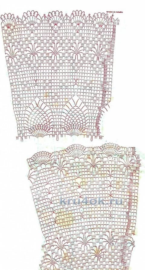 Схемы вязания платья ажурного Прованс