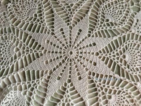Скатерть крючком. Работа Надежды Борисовой вязание и схемы вязания