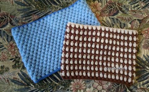 Снуд, связанный узором шишечки. Работа Ксении вязание и схемы вязания