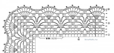 схема вязаной ажурной туники