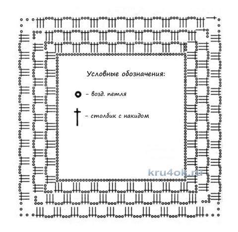 Вязанное пончо Осень. Работа Татианы вязание и схемы вязания
