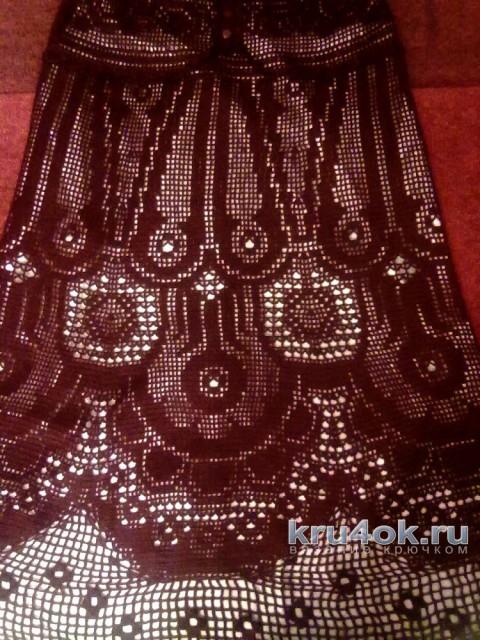 Вязаное платье цвета спелой вишни. Работа Ирины вязание и схемы вязания