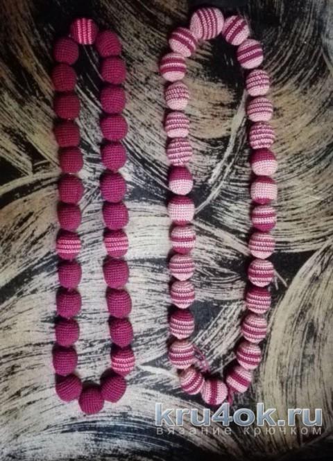 Вязаные бусы. Работы Елены Аистовой вязание и схемы вязания