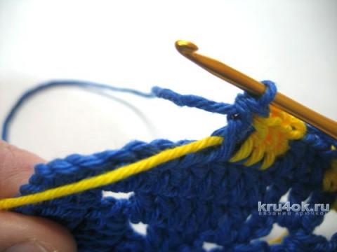 Женский пуловер крючком. Работа Ирины вязание и схемы вязания