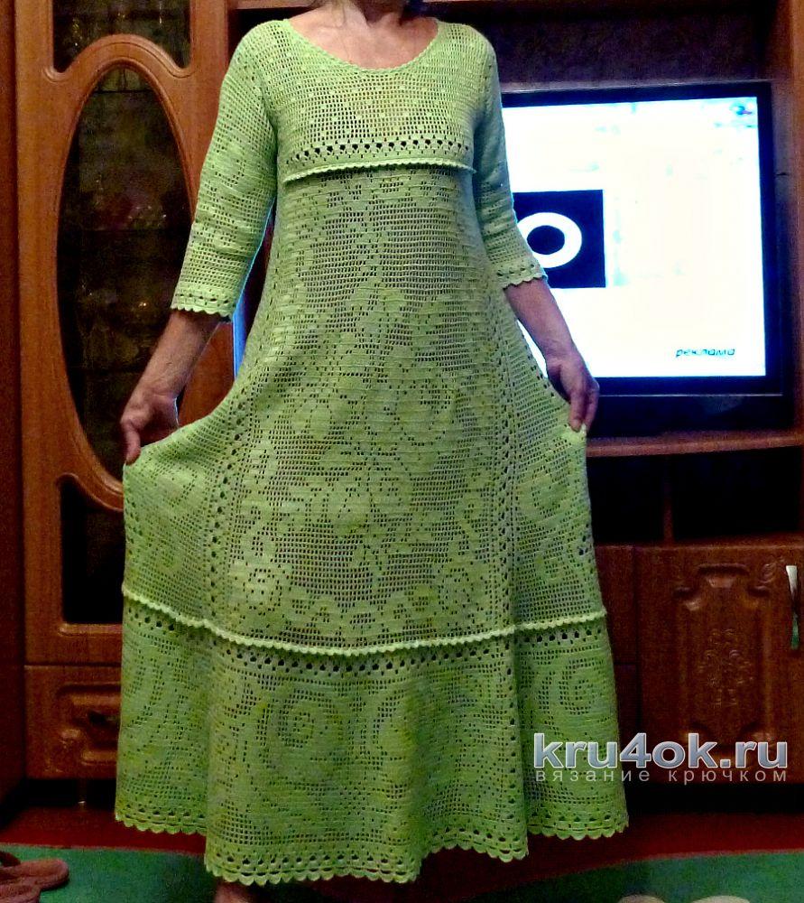 Женское платье крючком 907bfbd3e0898