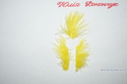 Цыплята - брелочки крючком. Мастер - класс от Юлии Конончук вязание и схемы вязания