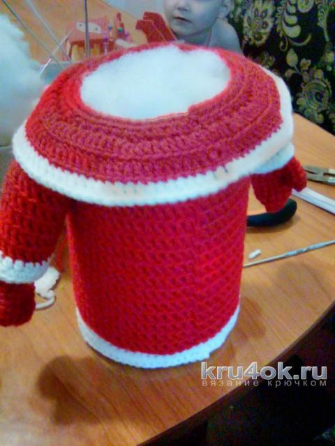 Дед Мороз крючком. Мастер - класс от Арины! вязание и схемы вязания