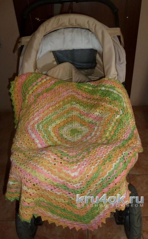 Детский плед крючком. Работа Натани вязание и схемы вязания