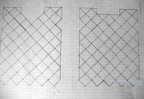 Кофточка крючком из мотивов. Работа Марии вязание и схемы вязания