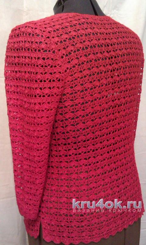 Кофточка Мальва крючком. Работа TatVen вязание и схемы вязания