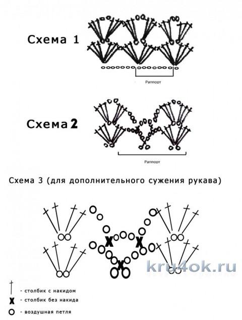 Схемы вязания кардигана крючком