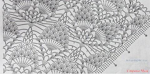 Платье Перо птицы. Работа Марии вязание и схемы вязания