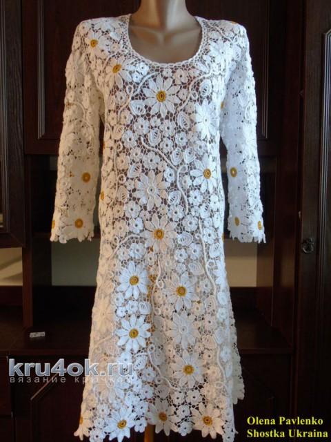 Платье Жемчужина букета. Работа Елены Павленко вязание и схемы вязания