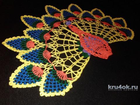 Салфетка Павлин. Работа Снежаны вязание и схемы вязания
