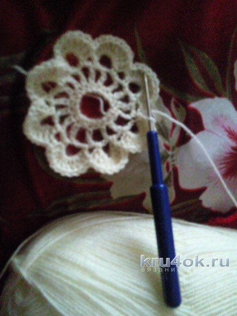 Шаль крючком из мотивов. Работа Маргариты вязание и схемы вязания