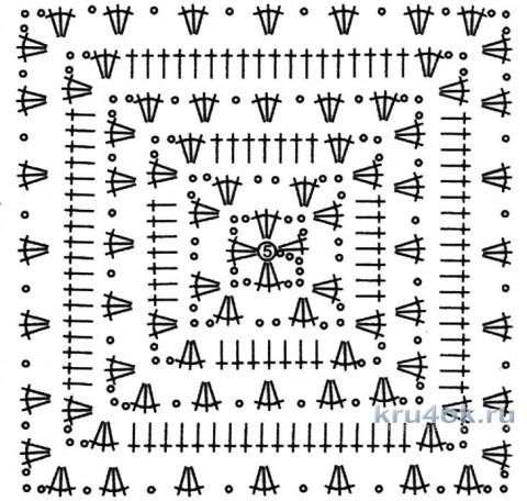 Туника крючком. Работа Ирины вязание и схемы вязания