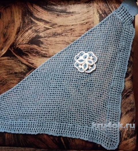 Вязаная крючком косынка. Работа Елены Аистовой вязание и схемы вязания