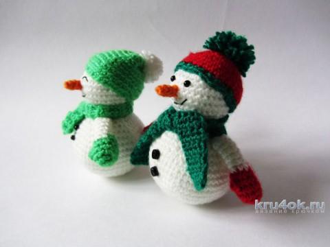 Вязаные снеговики. Работы Екатерины Алешиной вязание и схемы вязания