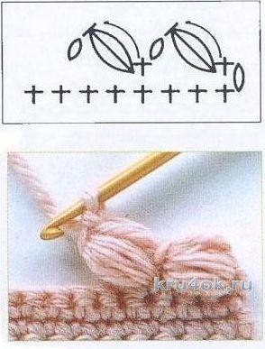 Юбка и шарф крючком. Работы Inna Aliyeva вязание и схемы вязания