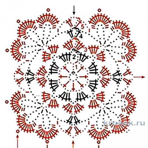 Жакет крючком. Работа Татьяны Беспичанской вязание и схемы вязания