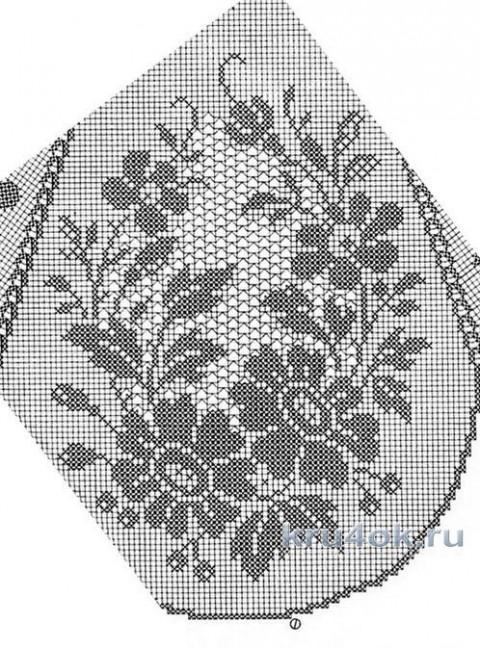 Женское платье крючком. Работа Татьяны Беспичанской вязание и схемы вязания