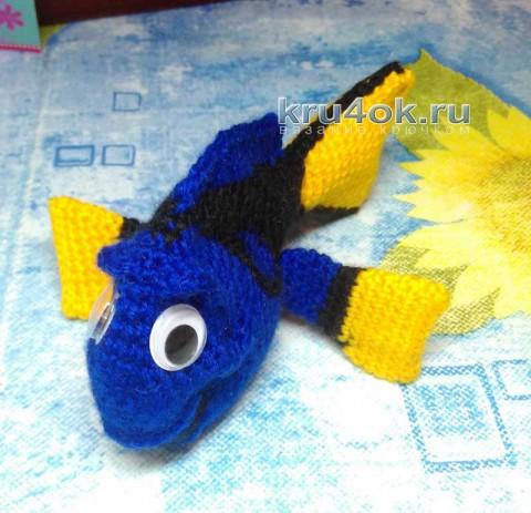 Рыбка Дори крючком. Работа Снежаны вязание и схемы вязания