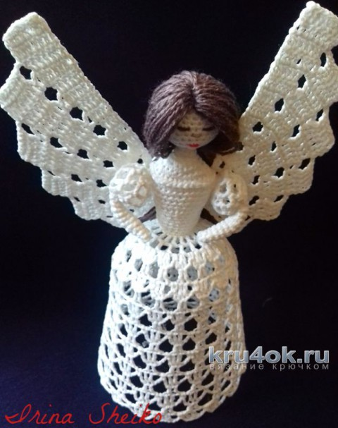 Ангел крючком. Мастер-класс от Ирины Шейко вязание и схемы вязания