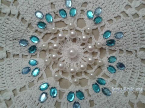 Чехол для подушки. Работа Фланденой Татьяны вязание и схемы вязания