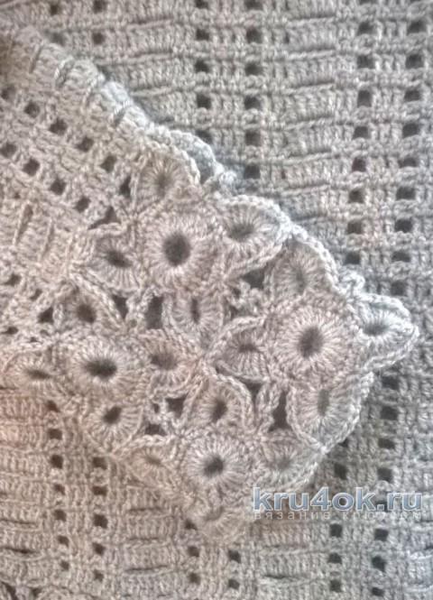 Джемпер женский, связанный крючком. Работа Елены  Шевчук вязание и схемы вязания
