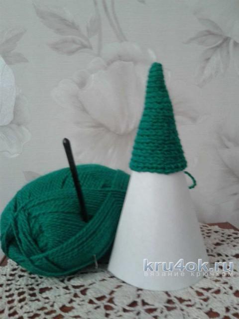 Елочка крючком. Работа Фланденой Татьяны вязание и схемы вязания