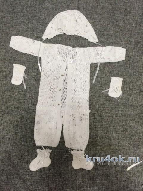 Комплект для малыша. Работа tori вязание и схемы вязания